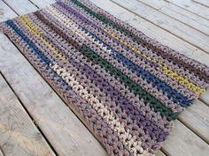 Country Kitchen Rug Crochet 40x22 Rag Area Rug by CedarLaneFarm