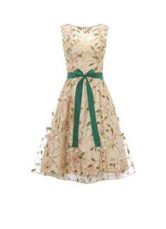 Phase Eight Loretta A-lijn jurk met geborduurde bloemen productfoto