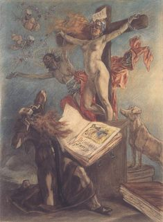 """The Temptation of St Anthony"" Félicien Rops - 1878"