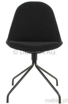 Tenzo Krzesło Donna Czarne Tkanina Nogi Ego Metalowe Czarne - DonnaEgo-C-C, Tenzo - Meble