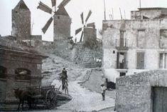 mallorca 1940 s | 1940. Antiguo camino empedrado de acceso a los molinos. A la izquierda ...