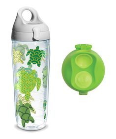 Take a look at this Turtle Pattern 24-Oz. Water Bottle & Lime Lid today!