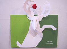 Festive reindeer by Robert Sabuda