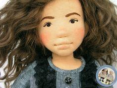 Olga - natural fiber art doll by Lalinda.pl