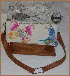#bolso bandolera mariposas# monedero a juego# hecho a mano http://pilicose.blogspot.com.es/