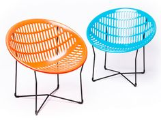 Solair Chair Mid Century Modern Patio and Garden Chair (Set of 2) | NOVA68 Modern Design