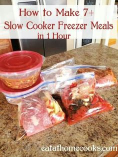 Slow cooker meals.