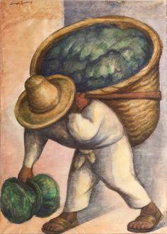 "Diego Rivera, ""Cabbage Seller"", 1936."