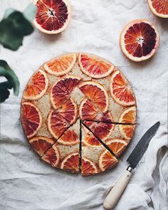 Blood orange upside down cake. It's so delicious and simple to make and is best served with lots of ice cream