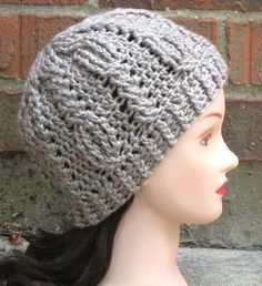 (4) Name: 'Crocheting : Briony Cabled Beanie $5