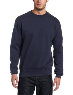 Champion Men's Size Medium Pullover Eco Fleece Sweatshirt Navy
