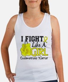 Fight Like A Girl Endometriosis Tank Top for