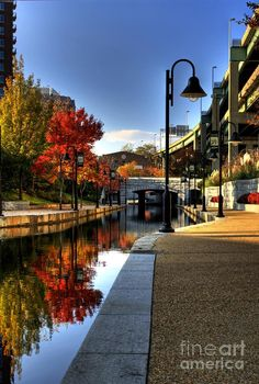 ✮ Falls colors along the canal walk in downtown - Richmond, VA