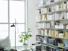 Wall-mounted shelving unit CELL by String Furniture Wall Mounted Shelves, Storage Shelves, String Regal, Thin Shelves, String Shelf, Interior Architecture, Interior Design, Shelving Systems, Home Trends