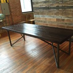 """Urban Wood Goods Belmont Dining Table Size: 30"""" H x 40"""" W x 96"""" L, Top Finish: Oil"""