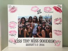 Kiss the Miss Goodbye Bachelorette Picture Mat by TwoSweetharts