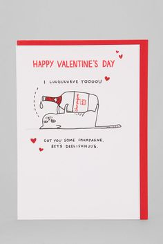 Hotch Potch I Lurve You Valentine's Day Card - Urban Outfitters