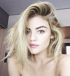Lucy Hale// blonde