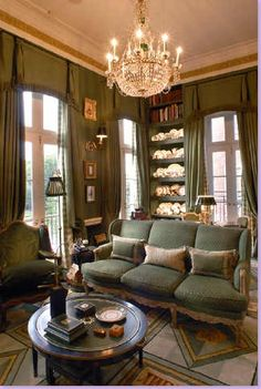 Houstonian interior designer Michael Siller used an antique Swedish chandelier in his sitting room.
