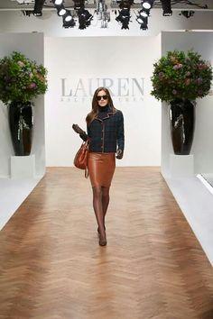 Plaid, saddle love. #Ralph Lauren fall collection