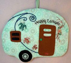 Happy Camper 14 Mug Rug by QuiltinCats on Etsy, $12.00