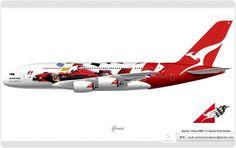 Qantas / Airbus A380 / F1 Special Paint Scheme