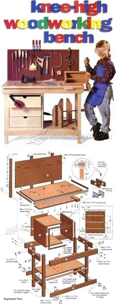 Kids Workbench Plans - Workshop Solutions Plans, Tips and Tricks | WoodArchivist.com