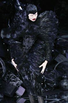 Magdalena Frackowiak during Alexander McQueen Fall '09