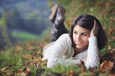 Beautiful young woman relaxing in autumn countryside . Seasonal and outdoor portrait Model: Giulia  Thank you  for viewing my images ! To follow me on Facebook , please click here: Facebook page