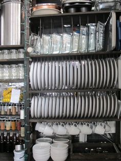 Industrial kitchen ware organization!