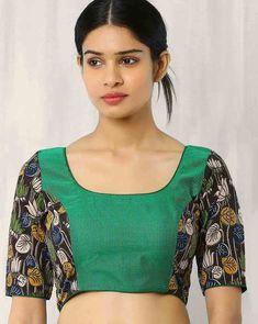 Buy Multicoloured Indie Picks Kalamkari Print Back Open Blouse
