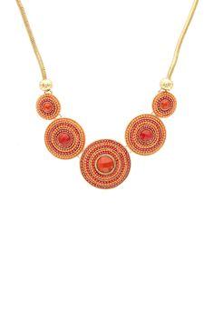 Sparkling Sage | Olivia Welles Bulls Eye Beauty Necklace | HauteLook #streetstyle