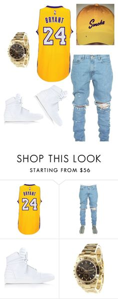 """""""Smoke"""" by li-janee on Polyvore featuring adidas, Diesel, Rolex, men's fashion and menswear"""