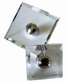 Silver lucite glass knobs pulls via myLusciousLife.com.jpg