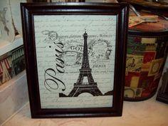Shabby Paris picture frame Eiffel Tower by JulieannasCreations, $18.00