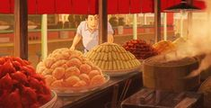Chinese food from Spirited Away - Ghibli food