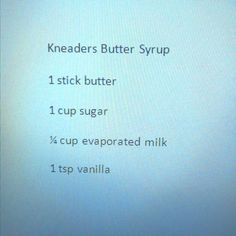 Kneaders French toast butter syrup recipe! Yummy!