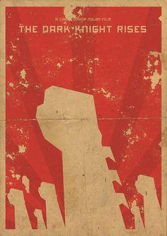 The Dark Knight Rises minimalist movie poster
