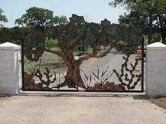 artistic driveway gates | Oak Tree Driveway Gate Pictures