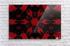 Red Earth Flower Acrylic Print