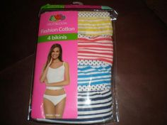 New Fruit of The Loom 4 Pack Cotton Bikinis size 9..free shipping
