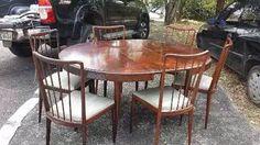 mesa de jantar pétala scapinelli em jacarandá anos 50 palito
