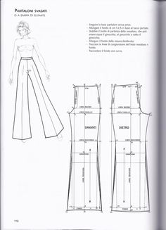 La tecnica dei modelli uomo donna 1 – Expolore the best and the special ideas about Designer clothing Diy Clothing, Clothing Patterns, Sewing Clothes Women, Easy Sewing Patterns, Vintage Patterns, Vintage Sewing, How To Make Clothes, Making Clothes, Fashion Design Sketches