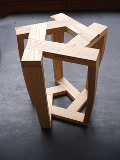 Itamar Burstein pentagon table and stools