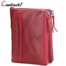 77741aa7c423 CONTACT S women wallet Genuine Leather Men Wallet Purse Female Card Holder  Small Clutch bags wallet coin