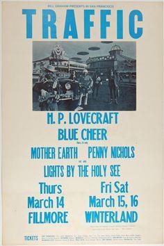 "Psychedelic Art Exchange | Concert Poster Store — (BG-111) Traffic, Fillmore Auditorium- PAE Graded Mint""91"""