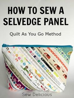 How to sew selvedges together to make a panel of fabric ~ Sew Delicious