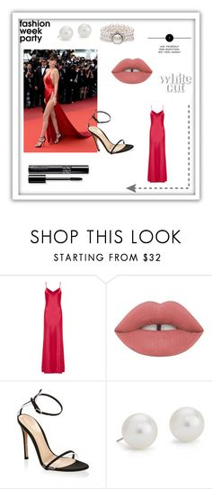 """""""Bella Hadid"""" by valentinbnl on Polyvore featuring Galvan, Lime Crime, Gianvito Rossi et Blue Nile"""
