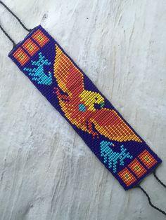 Mexican Native huichol beaded bracelet    eBay