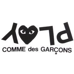 Play comme des garcons type typography font illustration